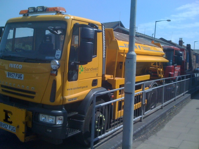 Sandwell Council Gritter in Birmingham in mid-summer